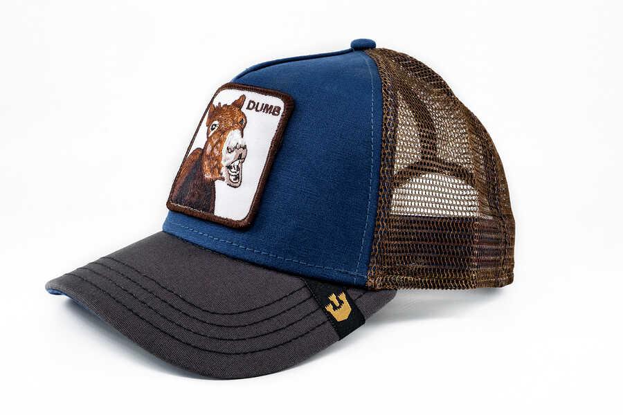 Goorin Bros - Goorin Bros Dumbass (Katır Figürlü) Mavi Şapka (1)