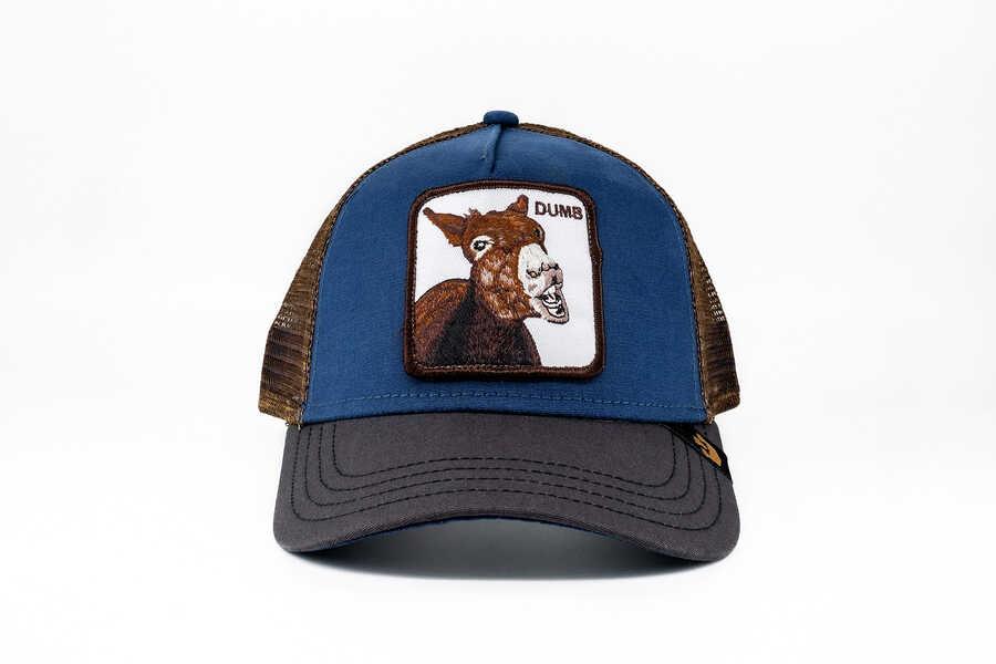 Goorin Bros - Goorin Bros Dumbass (Katır Figürlü) Mavi Şapka