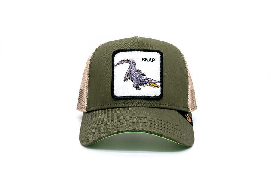 Goorin Bros - Goorin Bross Snap At (Timsah Figürlü) Haki Şapka