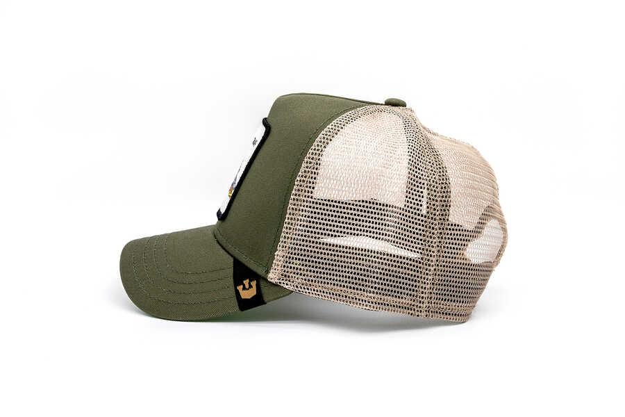Goorin Bross Snap At (Timsah Figürlü) Haki Şapka