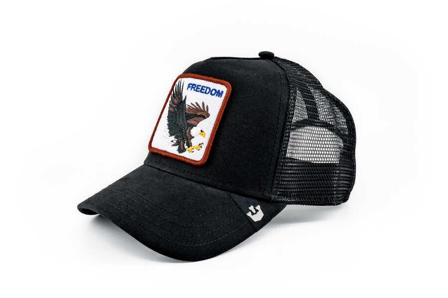 Goorin Bros - Goorin Bros Freedom (Kartal Figürlü) Siyah Şapka (1)