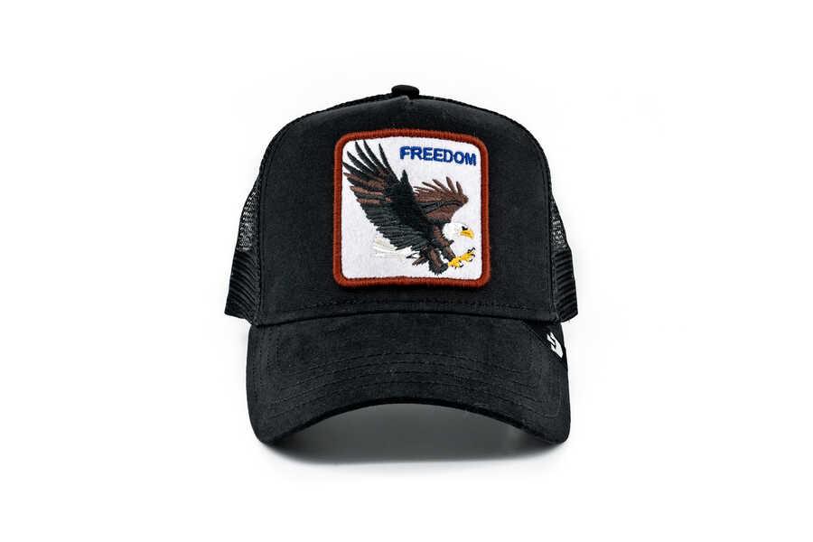Goorin Bros - Goorin Bros Freedom (Kartal Figürlü) Siyah Şapka