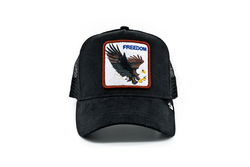 Goorin Bros - Goorin Bros Freedom (Kartal Figürlü) Siyah Şapka (Thumbnail - )