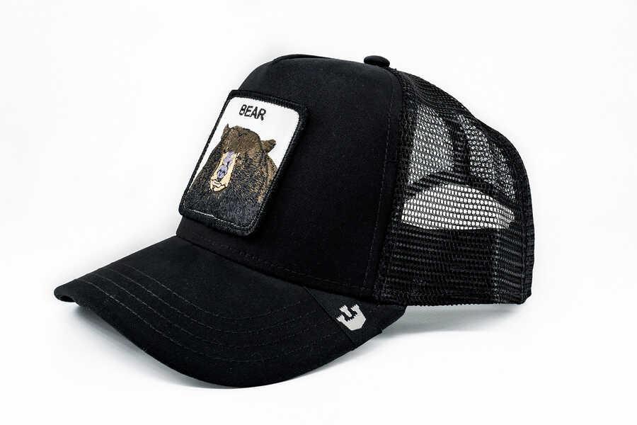 Goorin Bros - Goorin Bros Ayı Figürlü Siyah Şapka (1)