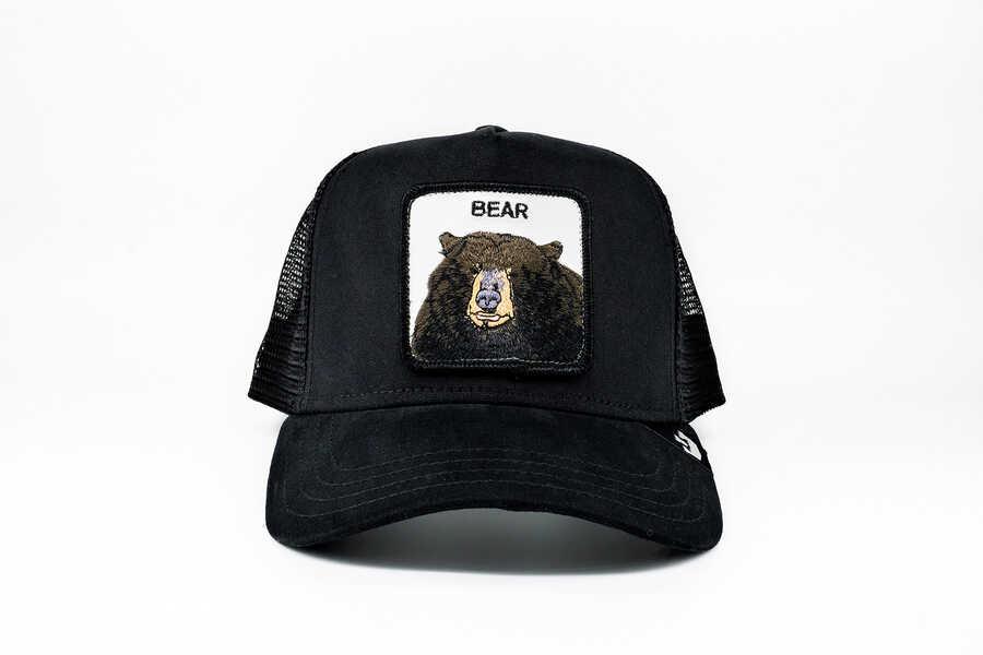 Goorin Bros - Goorin Bros Black Bear (Ayı Figürlü ) Siyah Şapka