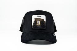 Goorin Bros - Goorin Bros Black Bear (Ayı Figürlü ) Siyah Şapka (Thumbnail - )