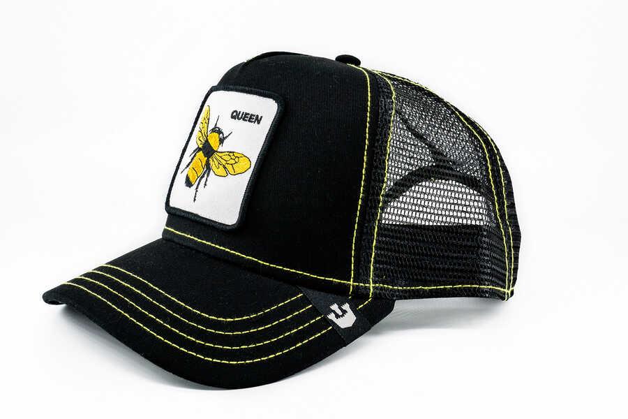 Goorin Bros - Goorin Bros Queen Bee (Arı Figürlü) Siyah Şapka (1)