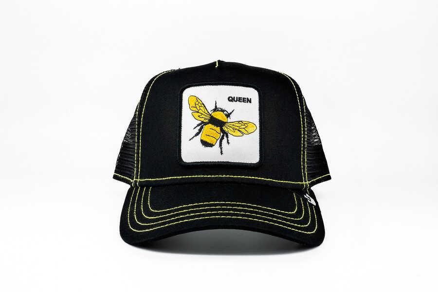 Goorin Bros - Goorin Bros Queen Bee (Arı Figürlü) Siyah Şapka