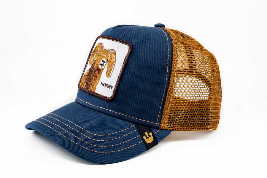 Goorin Bros - Goorin Bros Big Horn (Koç Figürlü) Lacivert Şapka (1)