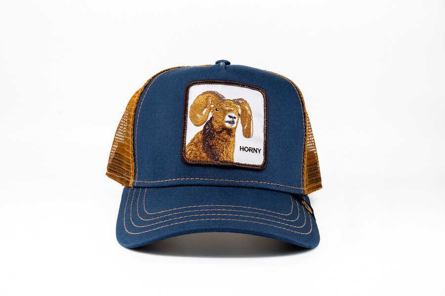 Goorin Bros - Goorin Bros Big Horn (Koç Figürlü) Lacivert Şapka