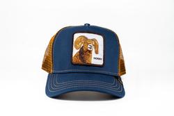 Goorin Bros - Goorin Bros Big Horn (Koç Figürlü) Lacivert Şapka (Thumbnail - )
