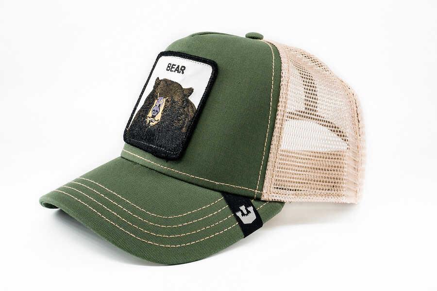 Goorin Bros - Goorin Bros Drew Bear (Ayı Figürlü) Yeşil Şapka (1)