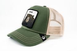 Goorin Bros Drew Bear (Ayı Figürlü) Yeşil Şapka - Thumbnail