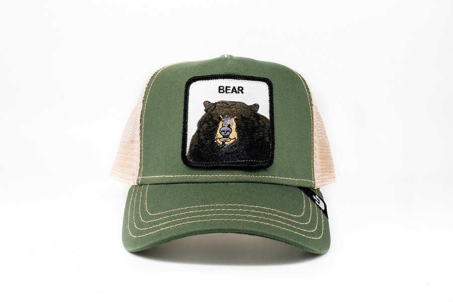 Goorin Bros - Goorin Bros Drew Bear (Ayı Figürlü) Yeşil Şapka