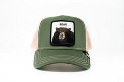 Goorin Bros - Goorin Bros Drew Bear (Ayı Figürlü) Yeşil Şapka (Thumbnail - )