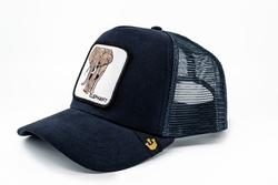 Goorin Bros Elephant (Fil Figürlü) Lacivert Şapka - Thumbnail