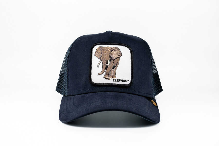 Goorin Bros - Goorin Bros Elephant (Fil Figürlü) Lacivert Şapka