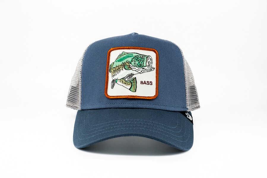 Goorin Bros - Goorin Bros Big Bass (Balık Figürlü) Mavi Şapka