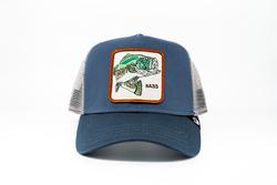 Goorin Bros - Goorin Bros Big Bass (Balık Figürlü) Mavi Şapka (Thumbnail - )