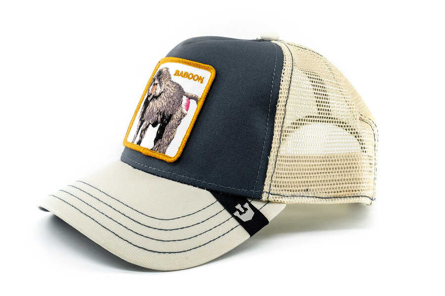 Goorin Bros - Goorin Bros Butthead (Babun Figürlü) Gri Şapka (1)