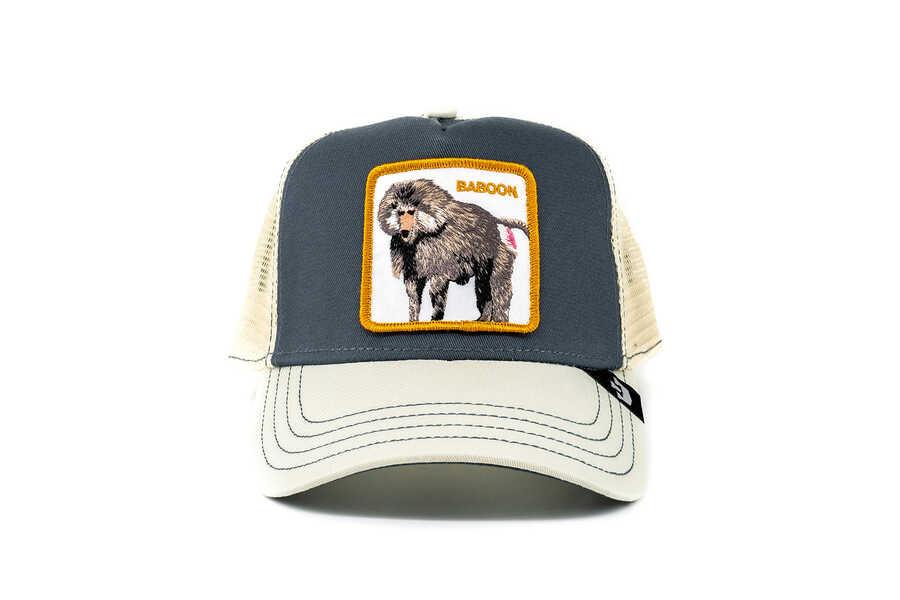 Goorin Bros - Goorin Bros Butthead (Babun Figürlü) Gri Şapka