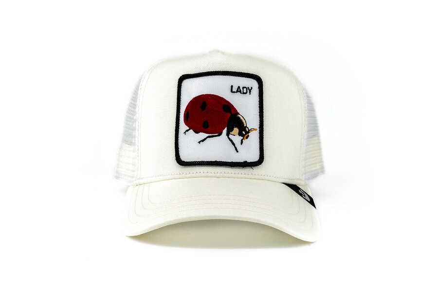 Goorin Bros - Goorin Bros Spot (Uğur Böceği Figür) Beyaz Şapka