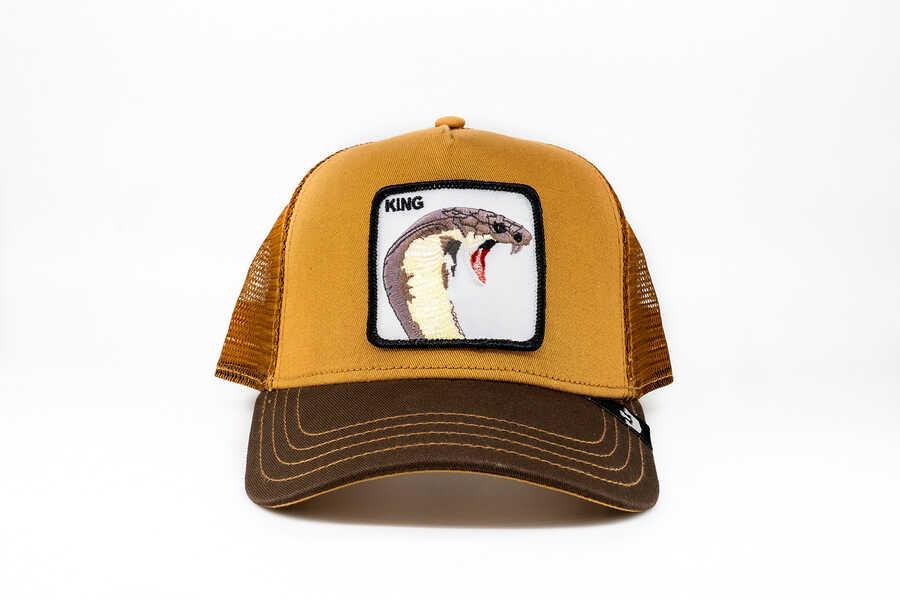 Goorin Bros - Goorin Bros Biter (Kobra Figür) Kahverengi Şapka