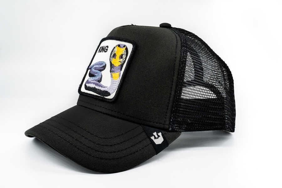 Goorin Bros - Goorin Bros Bite Me (Kobra Figürlü) Siyah Şapka (1)