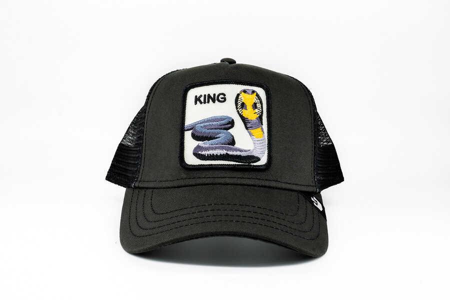 Goorin Bros - Goorin Bros Bite Me (Kobra Figürlü) Siyah Şapka