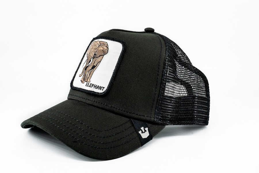Goorin Bros - Goorin Bros Big Heart (Fil Figürlü) Siyah Şapka (1)