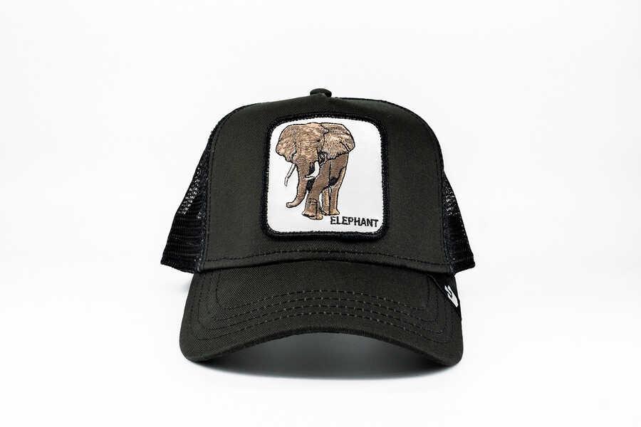 Goorin Bros - Goorin Bros Big Heart (Fil Figürlü) Siyah Şapka