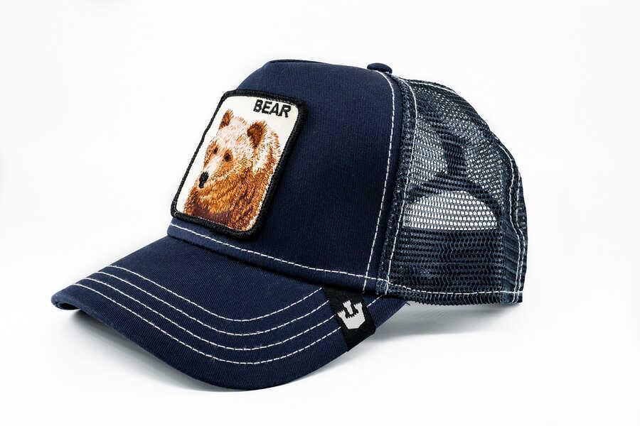 Goorin Bros - Goorin Bros Blue Bear (Ayı Figürlü) Lacivert Şapka (1)