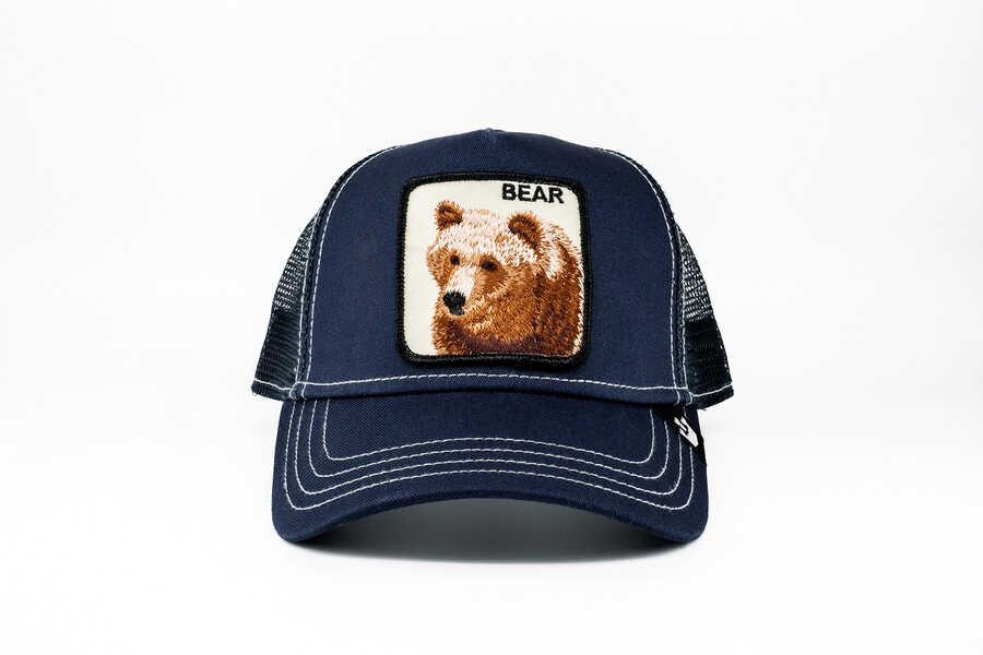 Goorin Bros - Goorin Bros Blue Bear (Ayı Figürlü) Lacivert Şapka
