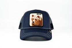 Goorin Bros - Goorin Bros Blue Bear (Ayı Figürlü) Lacivert Şapka (Thumbnail - )