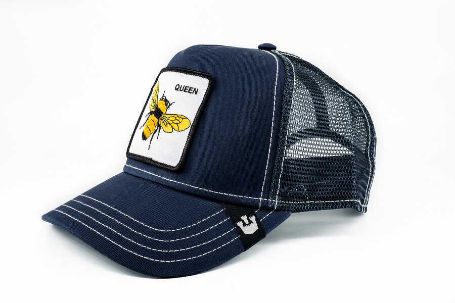 Goorin Bros - Goorin Bros Fierce (Arı Figürlü) Lacivert Şapka (1)