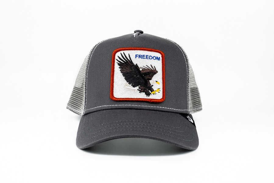 Goorin Bros - Goorin Bros Democracy (Kartal Figürlü) Gri Şapka