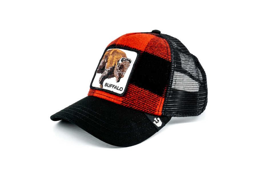 Goorin Bros - Goorin Bros Buffalo Figürlü Ekoseli Şapka (1)