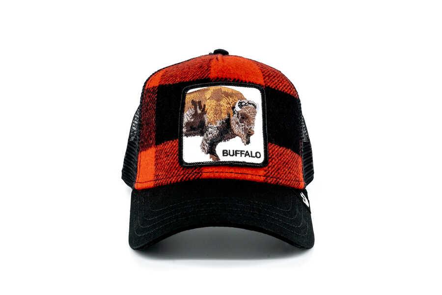 Goorin Bros - Goorin Bros Buffalo Figürlü Ekoseli Şapka