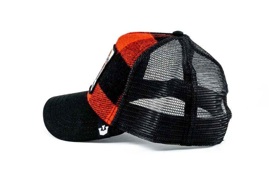Goorin Bros Buffalo Figürlü Ekoseli Şapka
