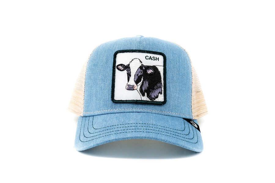 Goorin Bros - Goorin Bros Cash Cow (İnek Figürlü) Mavi Şapka