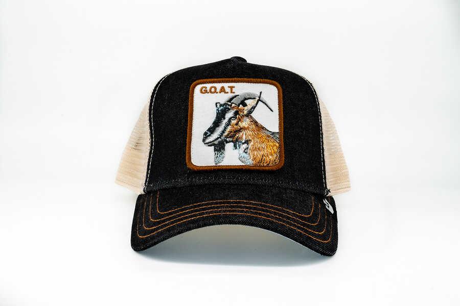 Goorin Bros - Goorin Bros G.O.A.T (Keçi Figürlü) Siyah Şapka