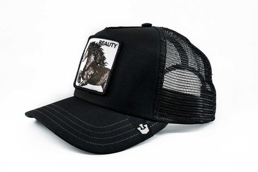 Goorin Bros - Goorin Bros Black Beauty (At Figürlü) Siyah Şapka (1)