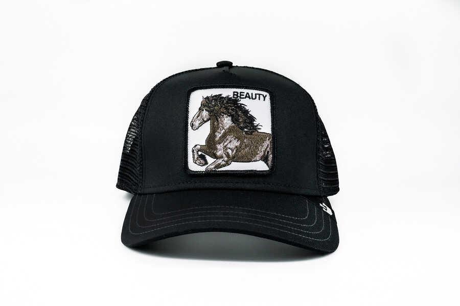 Goorin Bros - Goorin Bros Black Beauty (At Figürlü) Siyah Şapka