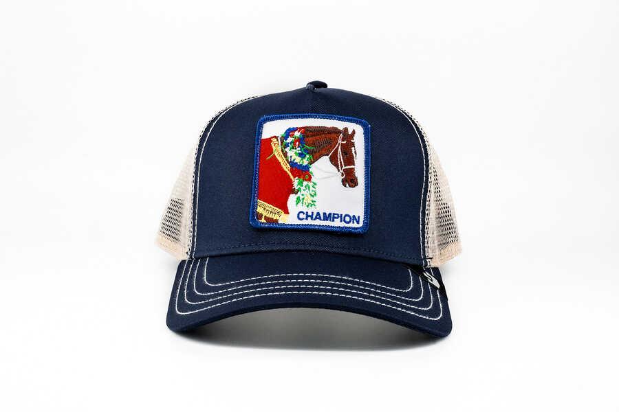 Goorin Bros - Goorin Bros Champion (At Figürlü) Lacivert Şapka