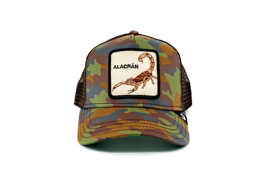 Goorin Bros - Goorin Bros Alacran (Akrep Figürlü) Kamuflaj Şapka