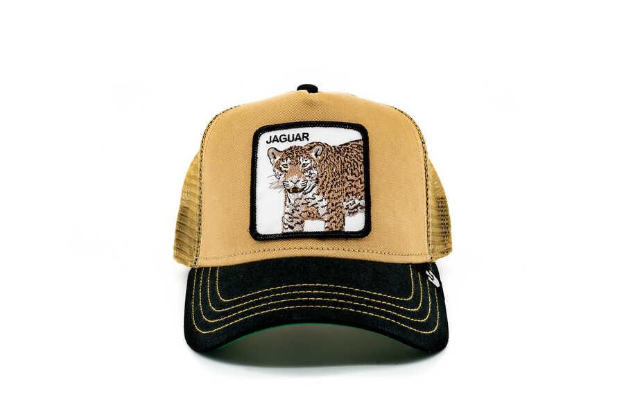 Goorin Bros - Goorin Bros Jaguar Figürlü Kahverengi Şapka
