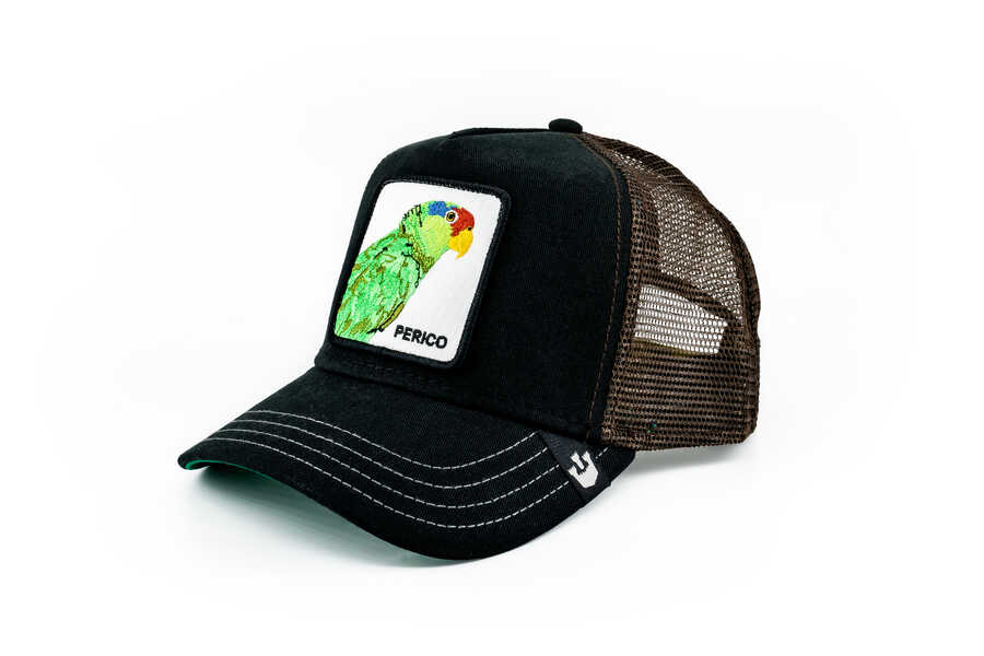 Goorin Bros - Goorin Bros Perico (Papağan Figürlü) Siyah Şapka (1)