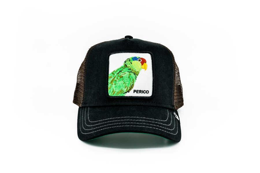 Goorin Bros - Goorin Bros Perico (Papağan Figürlü) Siyah Şapka