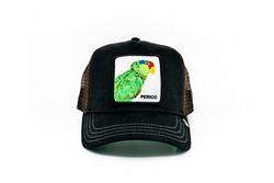 Goorin Bros - Goorin Bros Perico (Papağan Figürlü) Siyah Şapka (Thumbnail - )