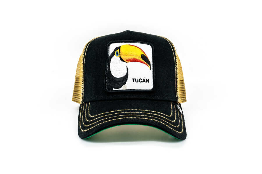 Goorin Bros - Goorin Bros Tucan Figürlü Siyah Şapka
